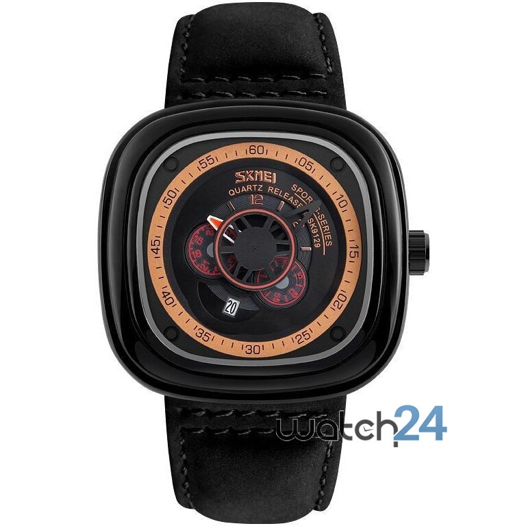 CEAS BARBATESC RETRO SQUARE BLACK-ROSEGOLD