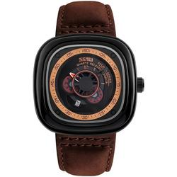 CEAS BARBATESC SKMEI RETRO SQUARE BROWN-BLACK