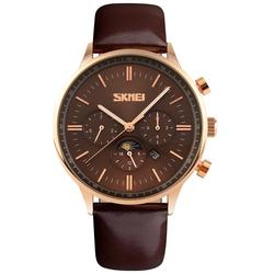 CEAS BARBATESC SKMEI MOONPHASE BROWN-BROWN-ROSEGOLD