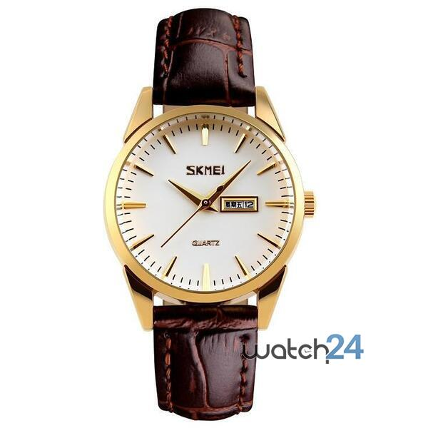 CEAS BARBATESC SKMEI CALENDAR BROWN-GOLD-WHITE