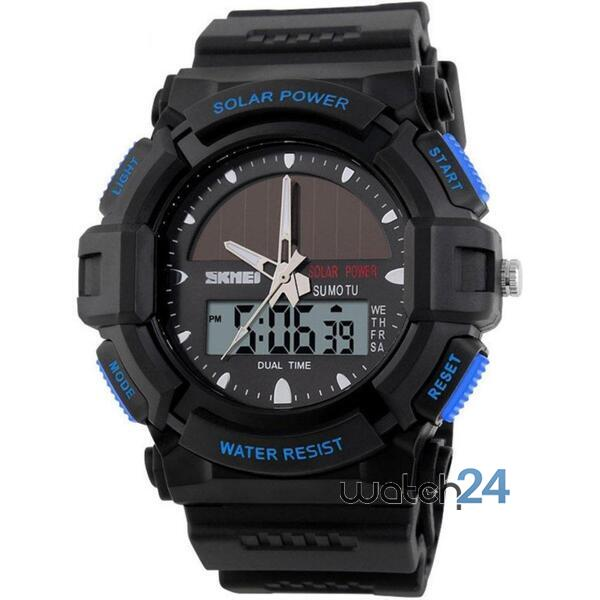 CEAS BARBATESC SKMEI MILITARY SOLARPOWER BLACK-BLUE