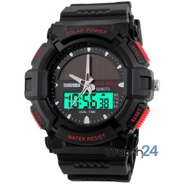 CEAS BARBATESC SKMEI MILITARY SOLARPOWER BLACK-RED