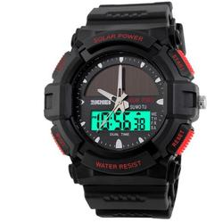 MILITARY SOLARPOWER BLACK-RED