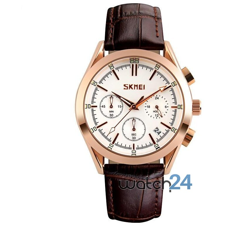 CEAS BARBATESC CHRONODATE BROWN-ROSEGOLD-WHITE
