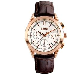 CEAS BARBATESC SKMEI CHRONODATE BROWN-ROSEGOLD-WHITE