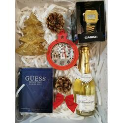 SET CADOU PARFUM GUESS SEDUCTIVE 100ML + CEAS CASIO + SCHLUMBERGER 0.2ML + DECORATIUNI
