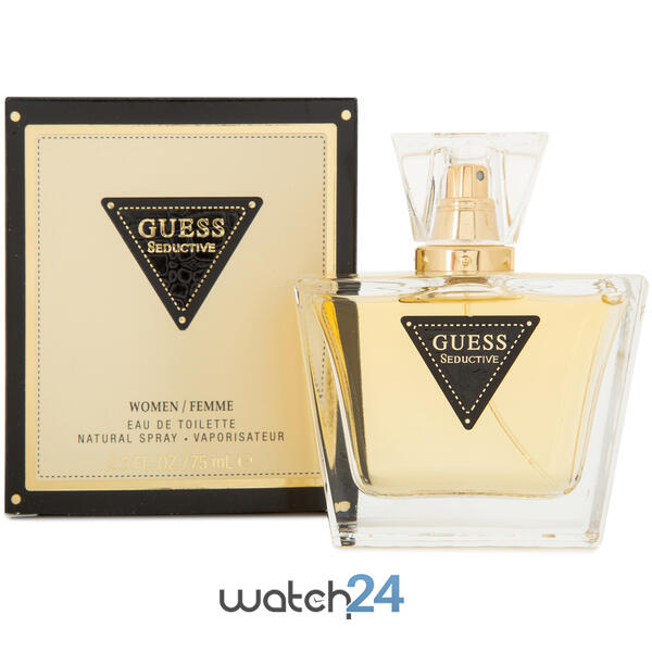 SET CADOU PARFUM GUESS SEDUCTIVE 75ML+ CEAS CASIO + SCHLUMBERGER 0.2ML + DECORATIUNI