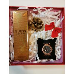 SET CADOU PARFUM DAMA GUESS BY MARCIANO 100 ML + CEAS DAMA QUARTZ COLORIA