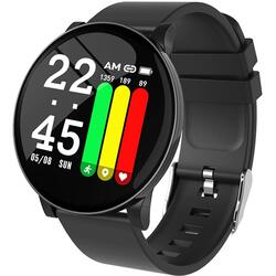 Smartwatch cu Bluetooth, monitorizare ritm cardiac, monitorizare somn, notificari, functii fitness S54