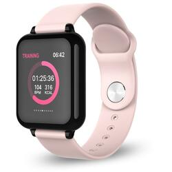 Smartwatch cu Bluetooth, monitorizare ritm cardiac, notificari, functii fitness S55