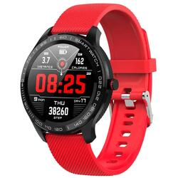 Smartwatch cu bluetooth, monitorizare ritm cardiac, monitorizare somn, notificari, functii fitness S58