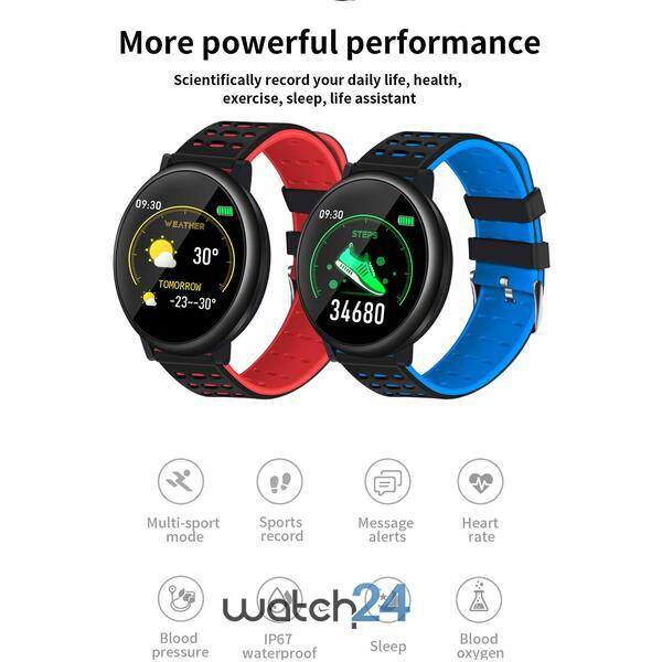 Smartwatch cu Bluetooth, monitorizare ritm cardiac, notificari, functii fitness S62