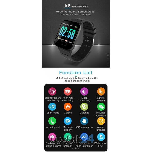 Smartwatch cu Bluetooth, monitorizare ritm cardiac, monitorizare somn, notificari, functii fitness S79