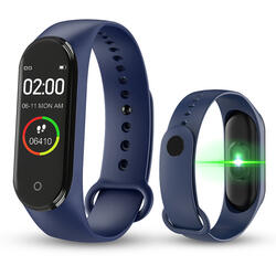 Bratara fitness (V.M4) cu Bluetooth, BPM, SPO2, MMHG, Notificari, Respingere apel, Acces camera foto, Music control  S85