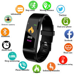 Bratara fitness cu Bluetooth, monitorizare ritm cardiac, notificari, functii fitness S91