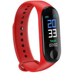 Bratara fitness cu bluetooth, monitorizare ritm cardiac, notificari, functii fitness S124