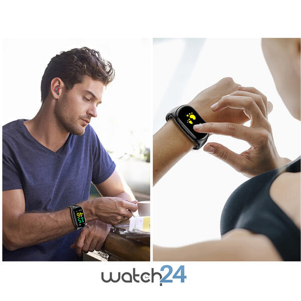 Smartwatch cu Bluetooth si casti, monitorizare ritm cardiac, notificari, multiple functii S130