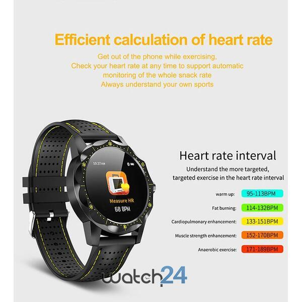 Smartwatch cu Bluetooth, monitorizare ritm cardiac, notificari, functii fitness S199