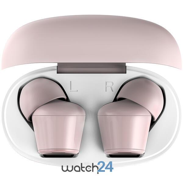 Casti Bluetooth 5.0 HiFuture Flybuds TWS Earbuds, Microfon, raspundere si respingere apel, Accesare vocala Siri sau Google Assistance, HD Voice, Control media, Touch pe casca, Roz