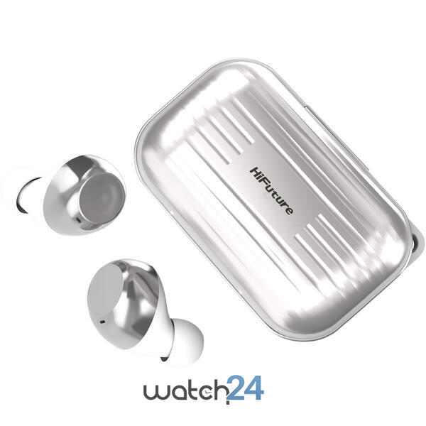 Casti Bluetooth 5.0 HiFuture Voyager White TWS Earbuds, Microfon, raspundere si respingere apel, Accesare vocala Siri sau Google Assistance, HD Voice, Control media, Touch pe casca, Negru